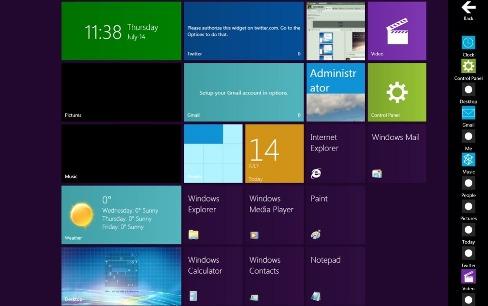 Windows 7 Üzerinde, Windows 8 Teması
