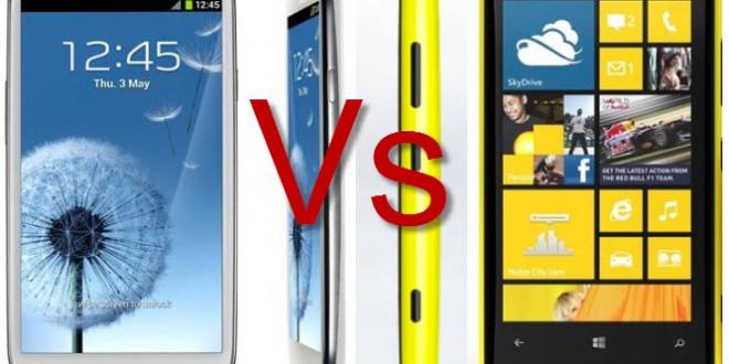 Nokia Lumia 920, Samsung Galaxy S3'ü Fena Yendi