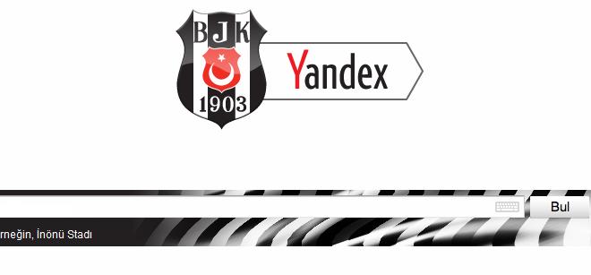 Beşiktaş Temalı Yandex Browser