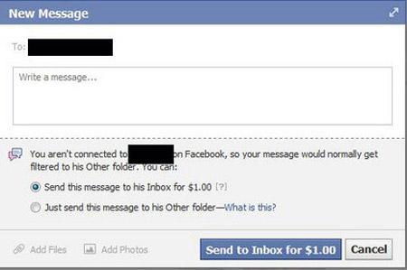Facebook En Sonunda Özel Mesajları Paralı Yaptı