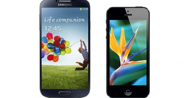 Galaxy S4 ve iPhone 5 Kapışması