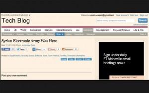 Financial Times hack edildi suriye