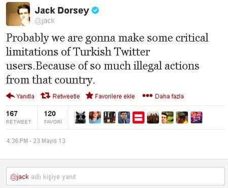 jack dorsey twitter kisitlama