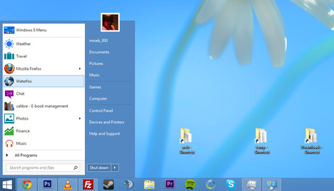 windows 8 baslat menusu
