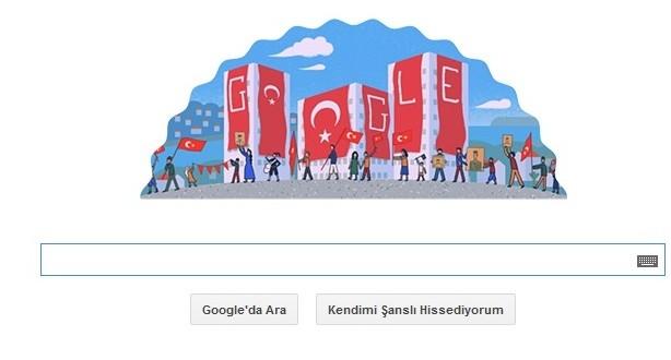 Google Cumhuriyet Bayramını Unutmadı