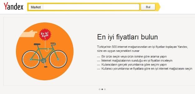 Yandex.Market Hizmete Girdi