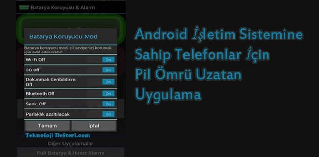 Batarya Koruyucu Android Uygulaması