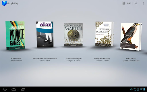 google-play-books kitap secimi