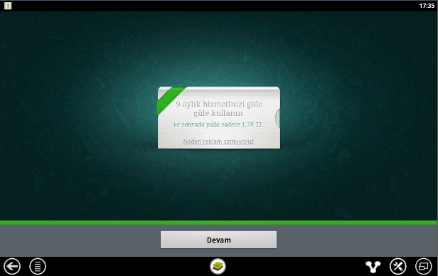whatsapp karsimama ekrani
