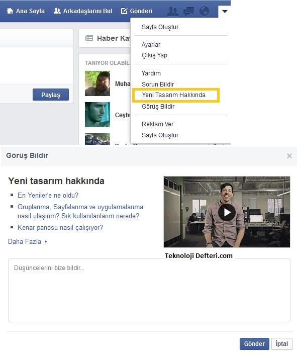 facebook tasarimi degisti 2
