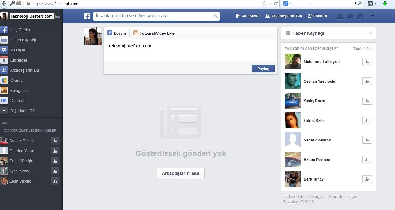 facebook tasarimi degisti