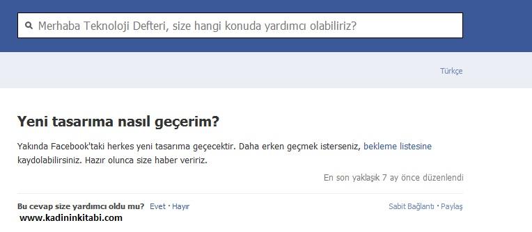 facebook yeni tasarim