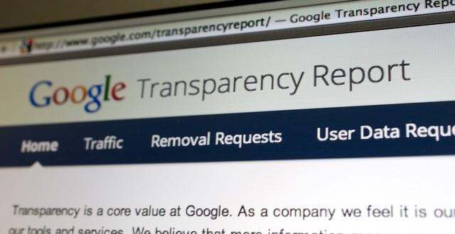 Google 2013 Şeffaflık Raporu