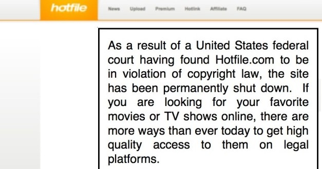 Hotfile Kapatıldı