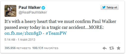 paul walker tweet