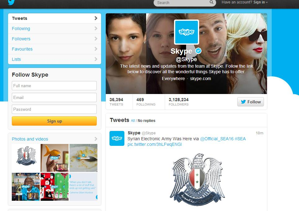 skype twitter hesabi hack