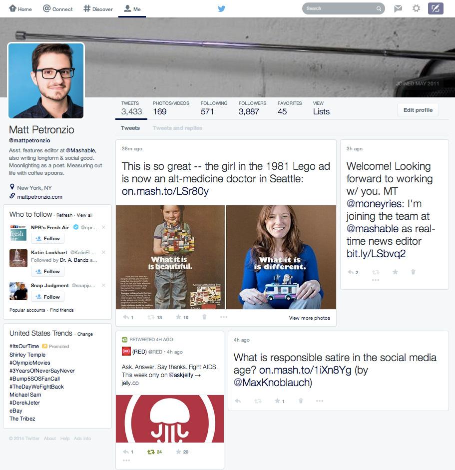 twitter yeni tasarim facebook 2014