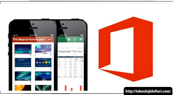 MS Office Mobil iPhone ve Android için Tamamen Ücretsiz, Abonelik de gerektirmez