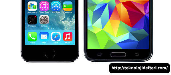 Samsung Galaxy S5 ile Apple iPhone 5s: Parmakizi Sensörü Karşılaştırılması [VIDEO]