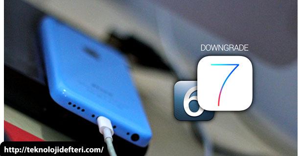 iOS  7.1.1 / 7.1 versiyonunu iOS 7.0.6'ya düşürme