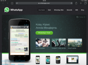 web whatsapp'a giremiyorum