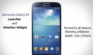Galaxy s4 launcher tema