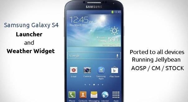 Galaxy S4 launcher Teması İndir
