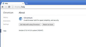 google chrome 27