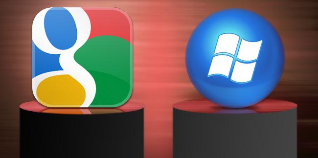 Google ve Microsoft İnatlaşması Devam Ediyor