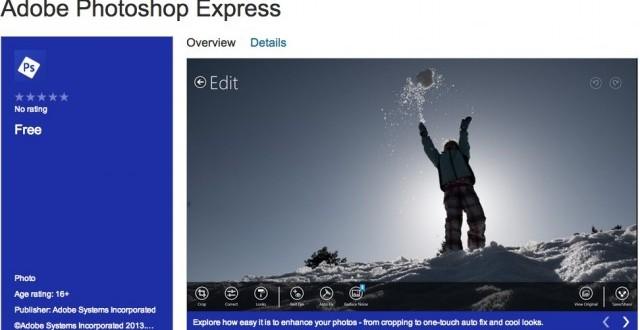 Windows 8 ve Windows RT için PhotoShop