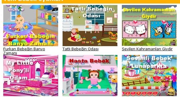 Bebek oyunu sitesi