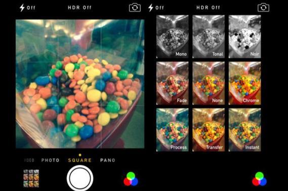 ios 7 foto efektler