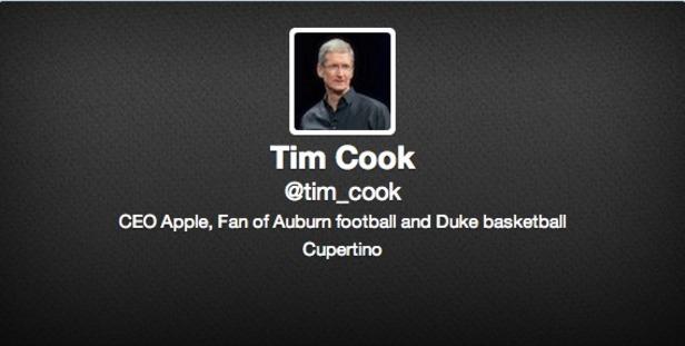 Apple CEO'su Tim Cook Twitter Hesabını Açtı