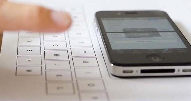 iPhone Telefonlar İçin Kağıt Klavye