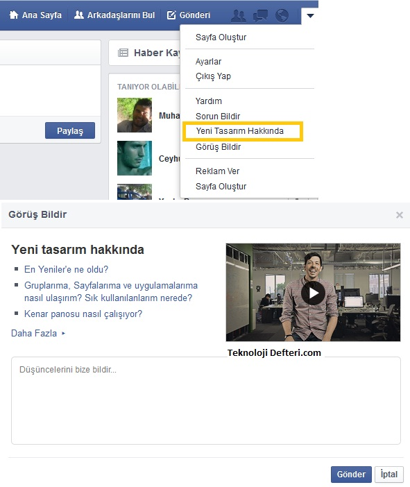 facebook tasarimi degisti 2