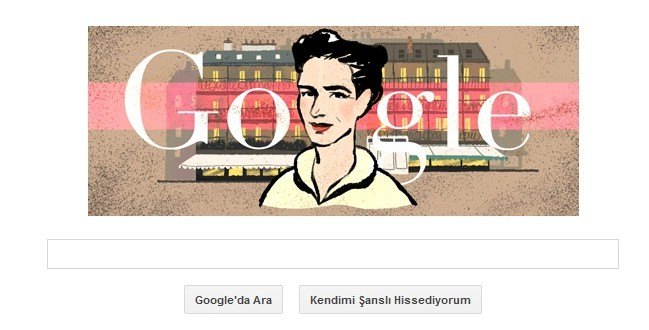 Google'dan Simone De Beauvoir Doodle'ı