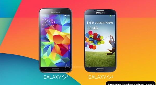 Samsung Galaxy S5 ile Galaxy S4'ün Karşılaştırılması (Video)