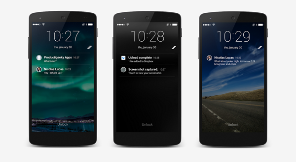 Android'de iOS gibi Kilit Ekranı ve Bildirimler Nasıl Yapılır?