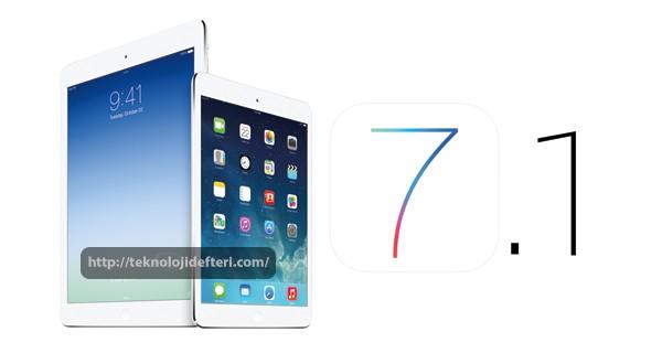 Duyurulmamış iki iPad iOS 7.1 ile geliyor