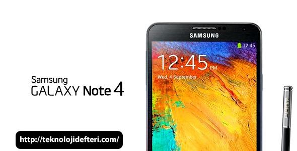 Samsung Galaxy Note 4 Özellikleri Sızdı